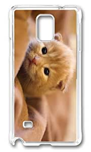 MEIMEIMOKSHOP Adorable kitty hd Hard Case Protective Shell Cell Phone Cover For Samsung Galaxy Note 4 - PC TransparentMEIMEI