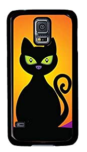 Best Samsung Galaxy S5 Case Cover Custom Phone Shell Skin For Samsung Galaxy S5 With Black Cat