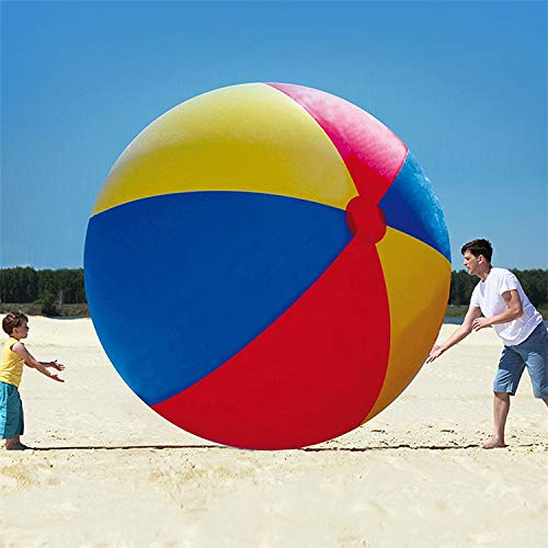 100 Sommer Aufblasbare Spielzeuge Wasserball, Große Dreifarbige PVC-aufblasbare Ballverdickung Unterhaltungsdekorationsball Aufblasbarer Schwimmring 100