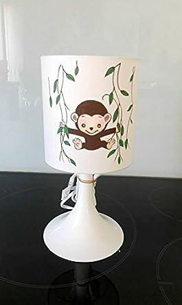 Lampe De Chevet Ou A Poser Enfant Theme Jungle Singe Savane Animaux