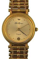 Lucien Piccard Women's Quartz Swiss Da Vinci Gold Ion-Plated Stainless Steel Watch