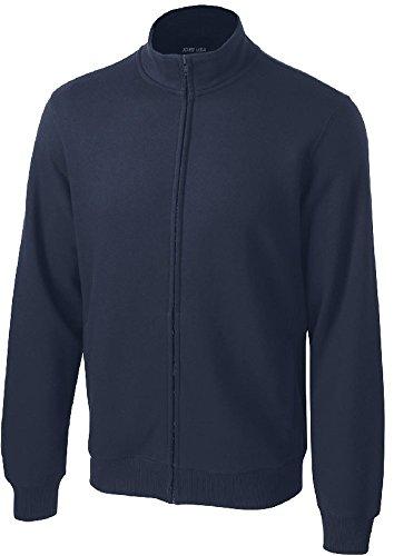 Joe's USA - Mens Tall Athletic Full-Zip Sweatshirt in Adult Sizes: XS-4XL True Navy ()