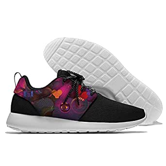Colorful Love Pattern Men's Mesh Running Shoes Sneakers Casual Athletic Workout Fitness Sports Shoes Trainers 45