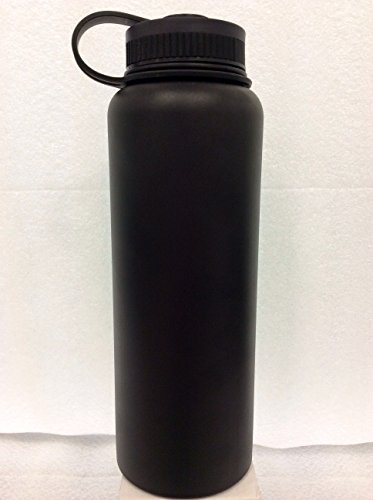 Insulated Stainless Steel Wide Mouth Water Bottle and Beer Growler, 40-ounce by Bargain Home Brew (Image #3)