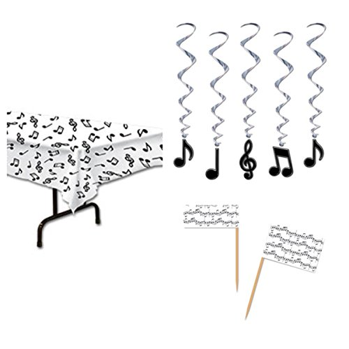 [MUSIC NOTE Musical Theme PARTY Decorations - TABLECLOTH (54