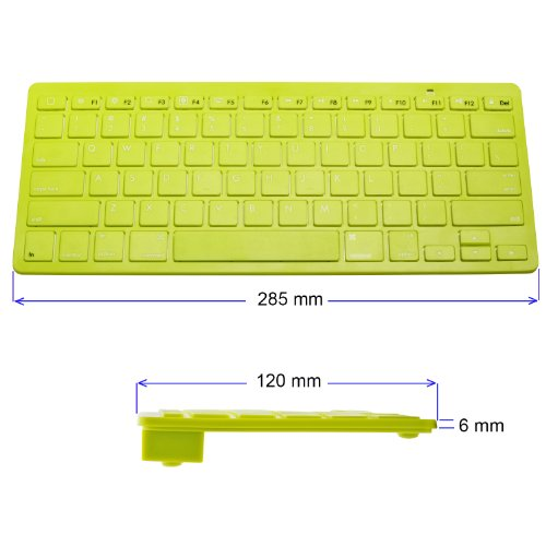 Hype Ultra-Slim Bluetooth Wireless Keyboard for Apple iPhone 6 Plus 5s iPad 4 Mini, Samsung Galaxy s5, Android Tablets - Green Photo #3