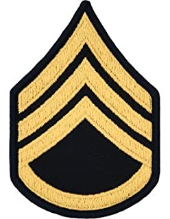Amazon.com: US Army SSgt E6 Staff Sergeant 4 inch Embroidered ...