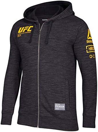 "UFC Ultimate Fightingリーボック""ファンギア""メンズFull Zip Hooded Sweatshirt–ブラック M ブラック"