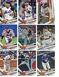 2019, 2018, 2017, 2016, 2015, 2014 Topps New York Mets Baseball Card Team Set Gift Lot (Complete Series 1 & 2 From All 6 Years) 125+ cards inc. Jeff McNeil RC, Pete Alonso RC in 6 brand new acrylic cases