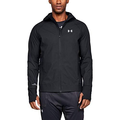(Under Armour Men's GORE-TEX WINDSTOPPER Jacket, Black (001)/Reflective, Large)