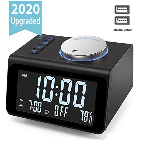 【Upgraded】Digital Alarm Clock Fm