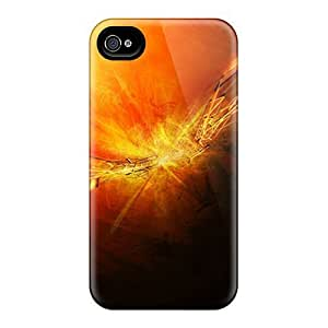 Slim Fit Tpu Protector Shock Absorbent Bumper Fire Scheme Case For Iphone 4/4s