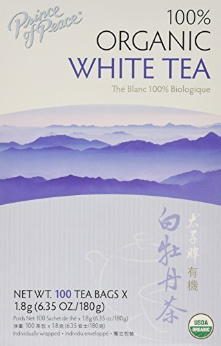 Prince of Peace Organic White Tea 100 Count (Pack of 2) - Prince Organic Tea