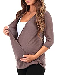 Women's Hacci Criss Cross Maternity and Nursing Wrap...