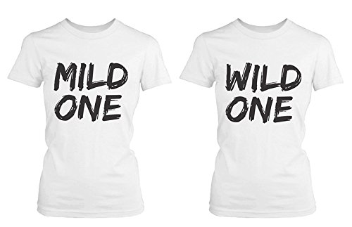 ebe5968eb970c5 365 Printing Cute Best Friend T Shirts - Mild One and Wild One - Funny BFF Matching  Shirts  Amazon.co.uk  Clothing