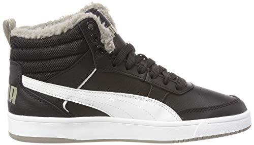 Puma V2 Baskets 04 Rebound White Hautes elephant Skin Street Noir puma Mixte Fur Enfant puma Jr Black ErrqU