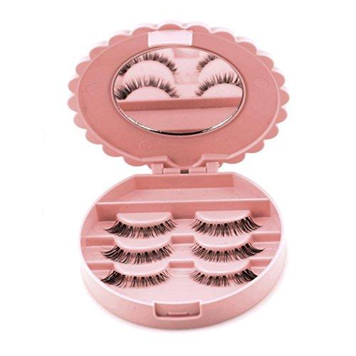 LtrottedJ Acrylic Cute Bow False Eyelash Storage Box Makeup Cosmetic Mirror Case Organizer Acrylic Cute Bow False Eyelash Storage Box Makeup Cosmetic Mirror Case Organizer