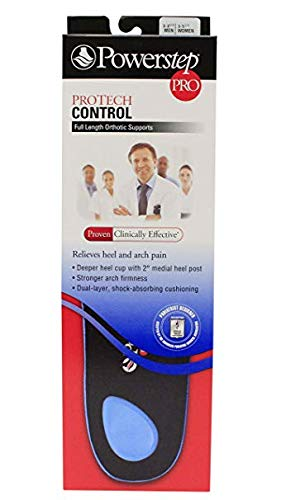 POWERSTEP PROTECH Control Full Length Orthotic Supports Mens & Women's (Men's 7-7.5 / Women's 9-9.5) ()