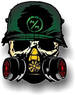"2 MULISHA 5/"" Round Vinyl Decals Racing JDM Army Helmet Skull 4x4 Truck Stickers"