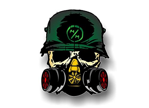 "Street Legal Decals Metal Mulisha Death Squad 6.25"" Decal FMX Race Army Helmet Hoodie Skull Sticker (Full Color)"