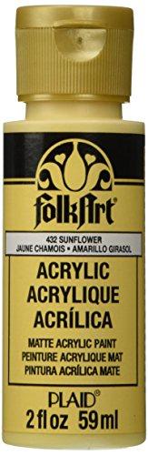 FolkArt Acrylic Paint in Assorted Colors (2 Ounce), 432 Sunflower (Paint 2 Ounce Sunflower)