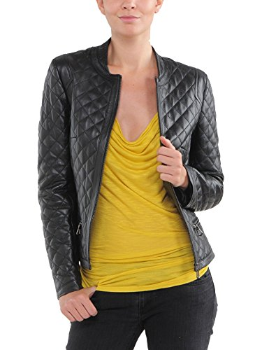 Chaqueta Mujer Negro Junction Para Leather Bq5wvnxUSU
