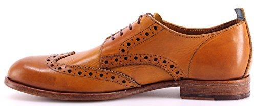 Zapatos Hombres MOMA 10707-TG Toscana Giallo Ocra Cuero Amarillo Handmade Italy