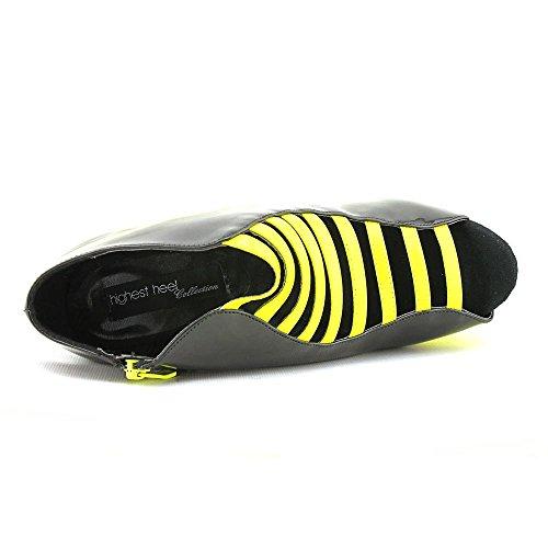 Yellow Heel Platform Patent Sandal Glow Women's Neon Highest The 121 8wUBgyq