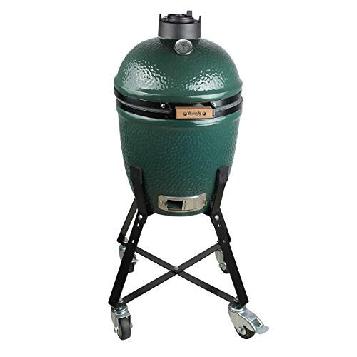 Dracarys Rolling Cart for Small Big Green Egg Nest Accessories,Green Egg Nest Stand Small Rolling Nest with Heavy Duty Locking Caster Wheels Powder Coated Steel by Dracarys (Image #4)