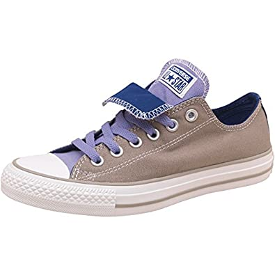 af146029404457 Womens Converse Womens CT All Star Double Tongue Ox Old Silver -  Grey Purple