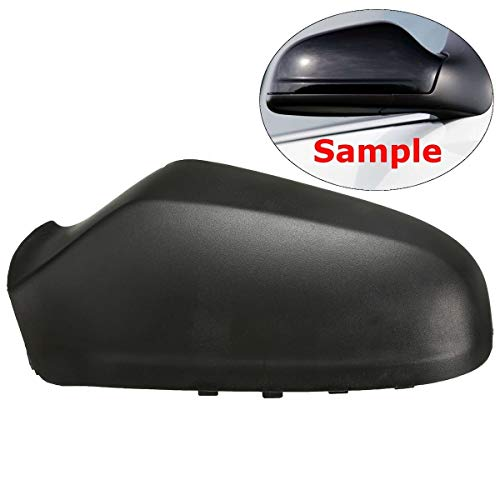 Cocas Door Wing Mirror Left Side Cover Casing Cap for Vauxhall Astra H 2004-2009 Black ()