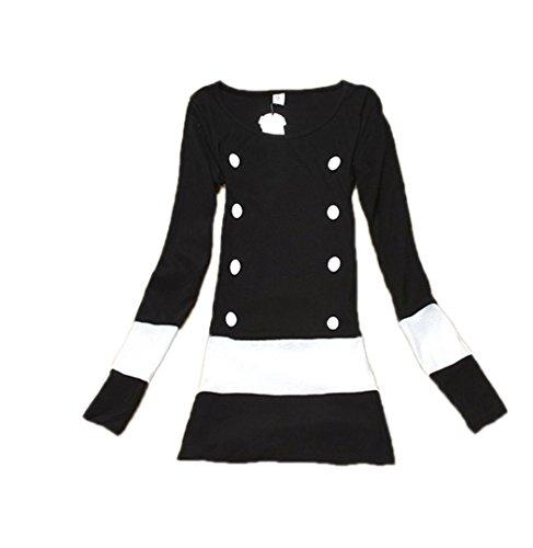 Zeagoo® Womens Stylish New Fashion Casual Long Sleeve O-neck Sexy Stretch Dress