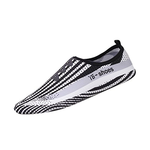 Water Sport Shoes Barefoot, Inkach Unisex Quick-Dry Water Swim Surf Printed Socks Yoga Skin Dive Beach Shoes White