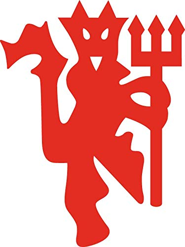 Manchester United Football Club Devil Vinyl Decal Sticker for Wall Decoration car Laptop yeti keypad MacBook Door Window (RED, 5