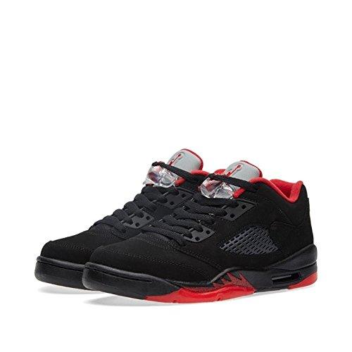 sports shoes f24de 51854 Galleon - Nike Air Jordan 5 Retro Low Ltd Alternate Basketball Shoes  Sneaker Black Red, EU Shoe Size EUR 35.5