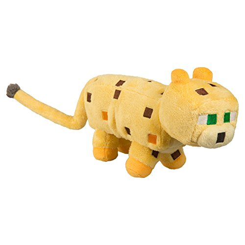 JINX Minecraft Ocelot Plush Stuffed Toy (Yellow, 14