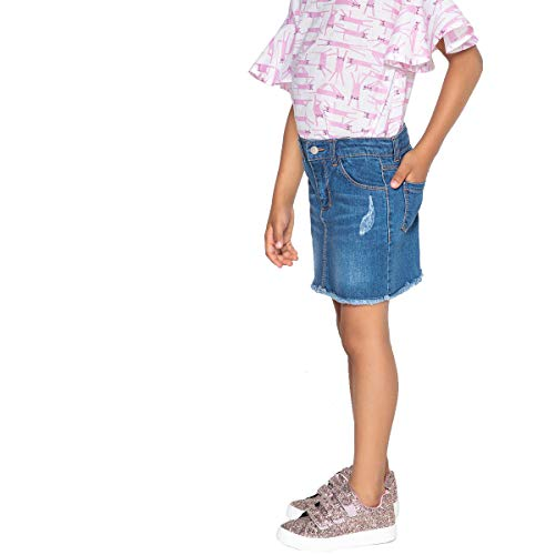 La Redoute Collections Denim Skirt, 3-12 Years Blue Size 6 Years (114 cm) - La Redoute Skirt