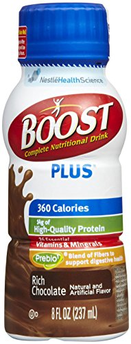 Boost Plus Rich Chocolate Flavor 8 oz. Bottle Ready to Use, 12187365 – Case of 24
