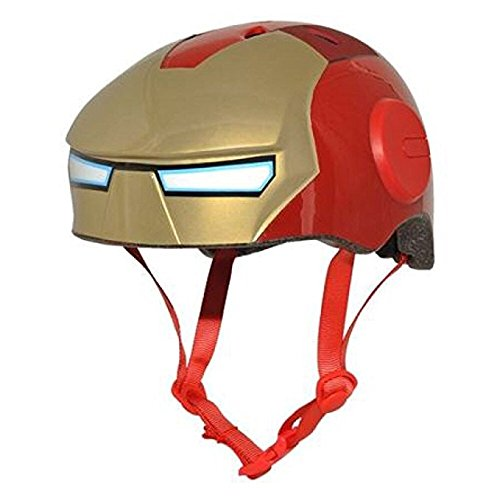 Marvel Avengers Ironman Kids Skate/Bike Helmet Pads & Gloves - 7 Piece Set