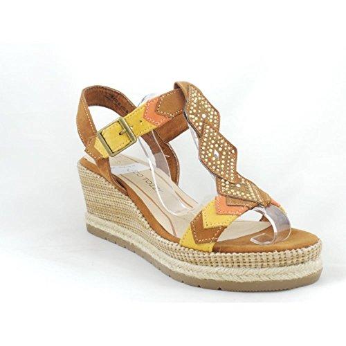 Tan - Sandalias de vestir para mujer marrón canela canela