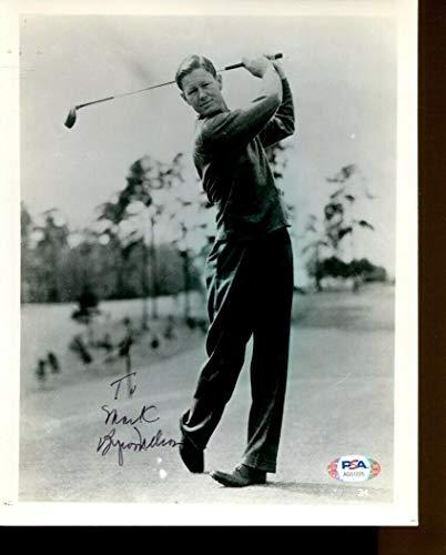 Byron Nelson Signed Photo 8x10 Autographed PGA Golf PSA/DNA AG51225