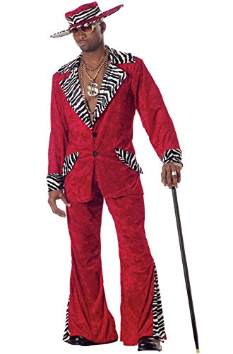 70s & 80s Sweet Daddy Pimp Mens Adult (Sexy Pimp Costumes)