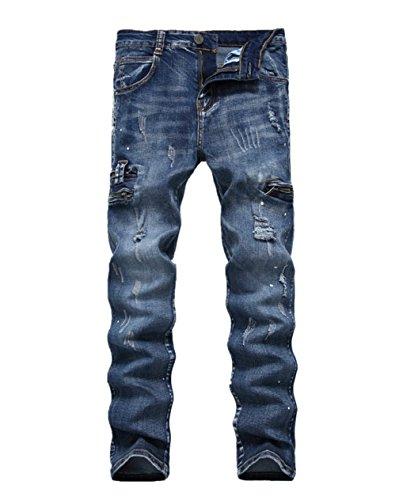 Blue Jeans Blue Yiankun Uomo Uomo Jeans Jeans Dark Blue Dark Uomo Uomo Yiankun Yiankun Jeans Dark Yiankun 0SxnARPn