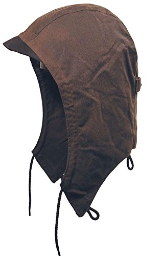 Showerproof Attachable Hood- fits in Our Kakadu Australia Raincoats and Jackets Brown
