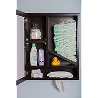 Windel - Incognito Diaper Cabinet (Espresso), Functional Luxury for the New E...