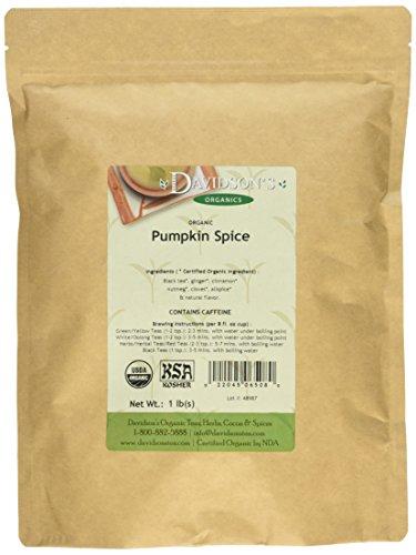 Davidson's Tea Bulk Bag, Organic Pumpkin Spice, 16 -