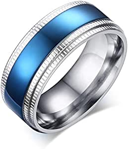 Unisex ring from Bllona Silver and Blue Size 8