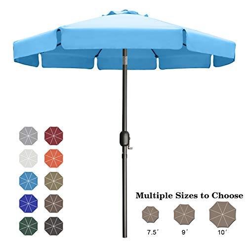ABCCANOPY 7.5' Patio Umbrella Table Market Umbrella with Push Button