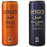 Pepsi 1893 Black Currant Cola & Citrus Cola 4 Cans (2 Flavor Combo Pack)