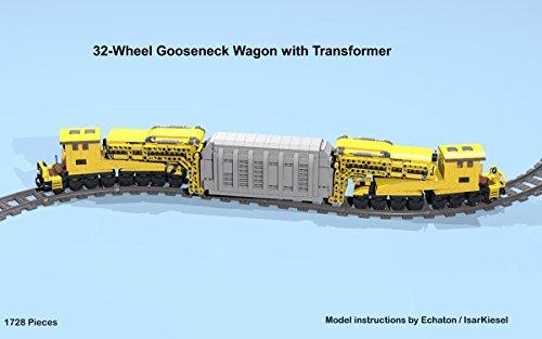 Amazon 32 Wheel Gooseneck Wagon With Transformer Cargo Lego